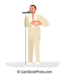 latino, cantante, macho