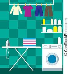 lavado, habitación