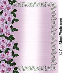 Lavanda rosas invitación a la boda