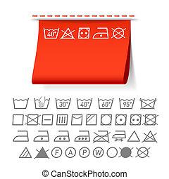 Lavar símbolos