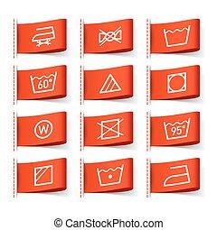 Lavar símbolos en etiquetas de ropa