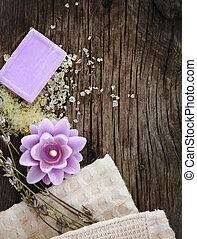 Lavender spa de madera