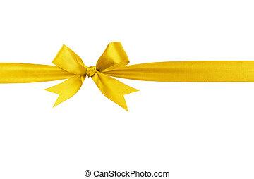Lazo amarillo a mano, arco horizontal