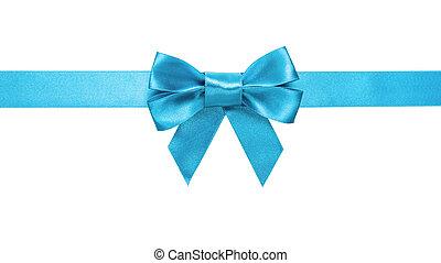 Lazo azul azul azul, arco horizontal