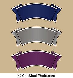 Lazo azul, gris y púrpura
