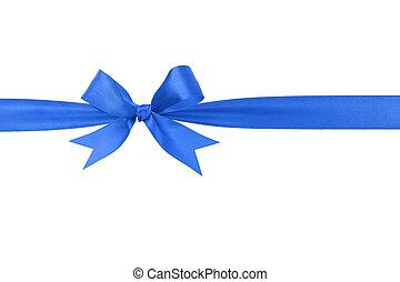 Lazo azul hecho a mano, arco horizontal