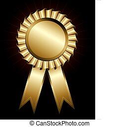 Lazo de premio dorado