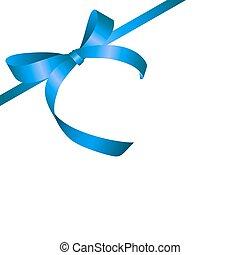 Lazo de regalo azul. Ilustración de vectores