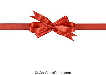 Lazo de regalo rojo y arco horizontal