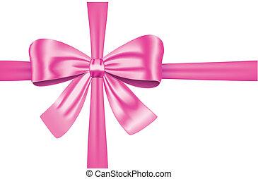Lazo de regalo rosa con arco