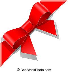Lazo rojo con cinta