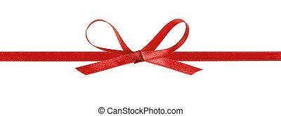 Lazo rojo delgado con cinta horizontal