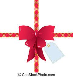 Lazo rojo y arco para envolver regalos