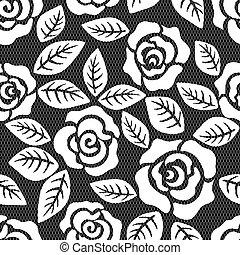 Lazo sin semen, patrón de rosas