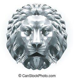 León de plata. Vector