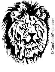 león, macho