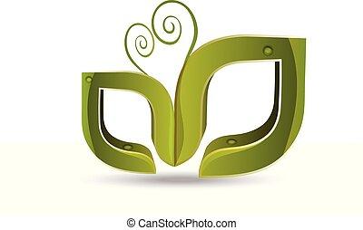 Leafs naturaleza vector de logo