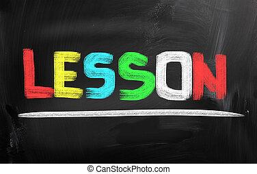 lección, concepto