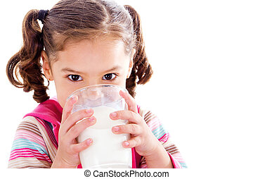 leche de bebida, niño
