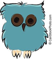 Lechuza de pájaro de pesadilla, vector o ilustración de color.