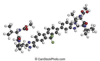 Ledipasvir hepatitis C virus (HCV) molécula de drogas.