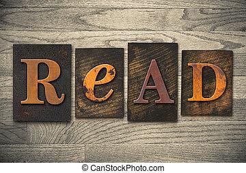 Lee el concepto de letra de madera