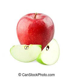 Lee manzanas y rebanadas