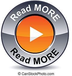 leer, más, button., redondo