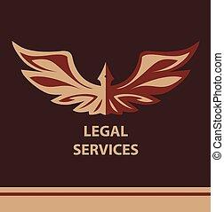 legal, vector, plantilla, logotipo, notary, organization.