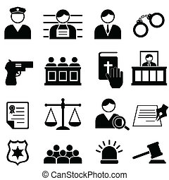 Legales, justicia y íconos de la corte
