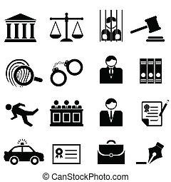 Legales, leyes y íconos de justicia