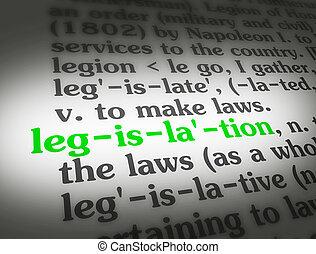 legislación, diccionario