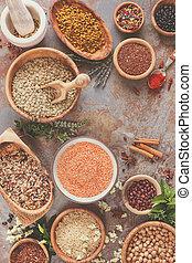 Legumbres, grano y semillas