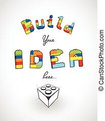 lema, idea, aquí, su, construya, template.