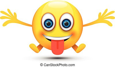 Lengua hacia fuera feliz emoji