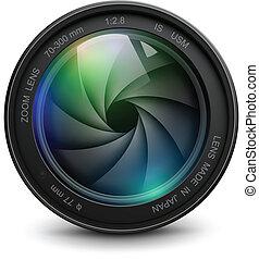 lente, cámara