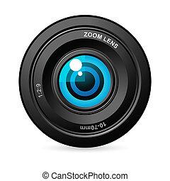 lente, cámara, ojo