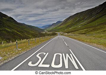 lento, muestra del camino