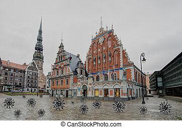 letonia, capital), (riga, blackheads, casa