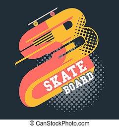 Letra de camiseta de Skateboard