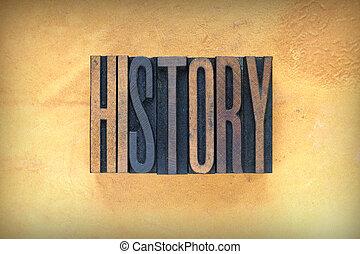 Letra de historia
