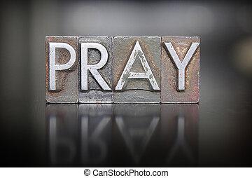 Letra de oración