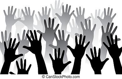 Levanta la mano