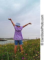 Levantando brazos