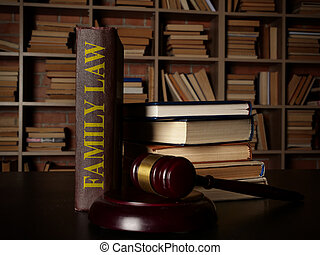 ley, familia , biblioteca, gavel.