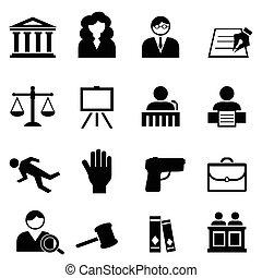 Ley, legal, icono de justicia establecido