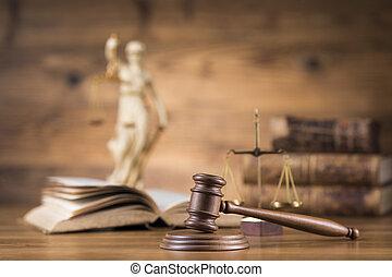 ley, mazo, martillo, tema, concepto, juez