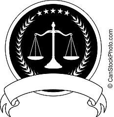 Ley o abogado sellan con bandera