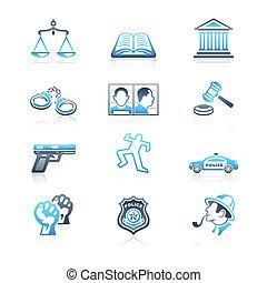 Ley y orden iconos de serie MARINE