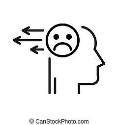 Libera pensamientos negativos diseño de ilustración